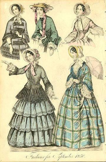 Fashions for September 1850