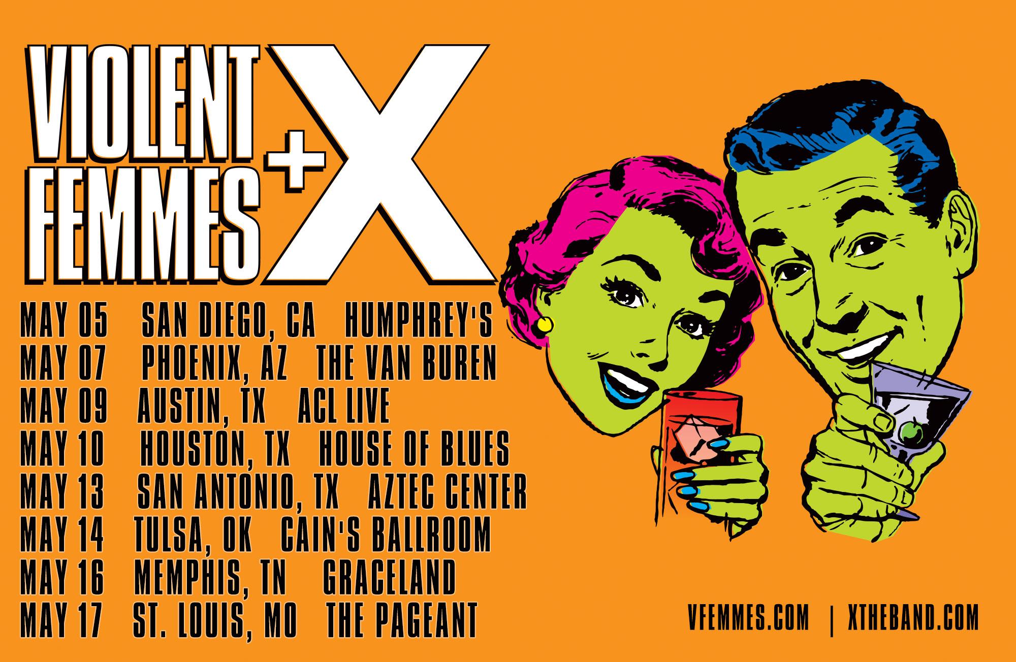 Violent Femmes / X - Tour 2019