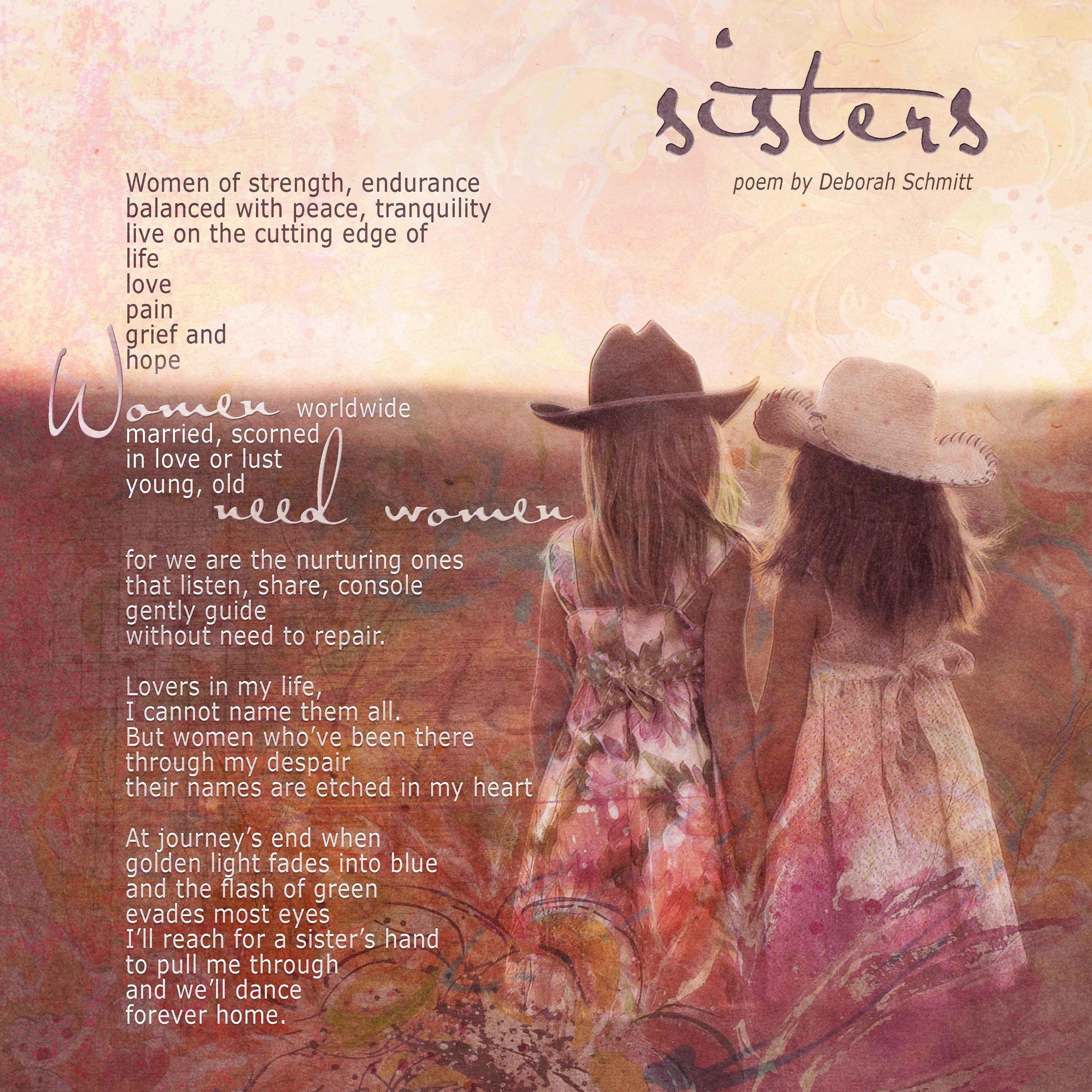 sisters poem by deborah schmitt
