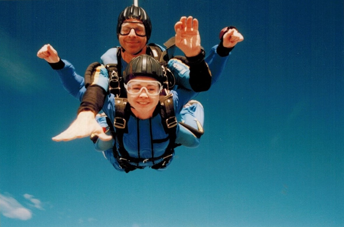 This is me skydiving on my 26th birthday. Now when I think back to that day, I cannot believe I did it!!!