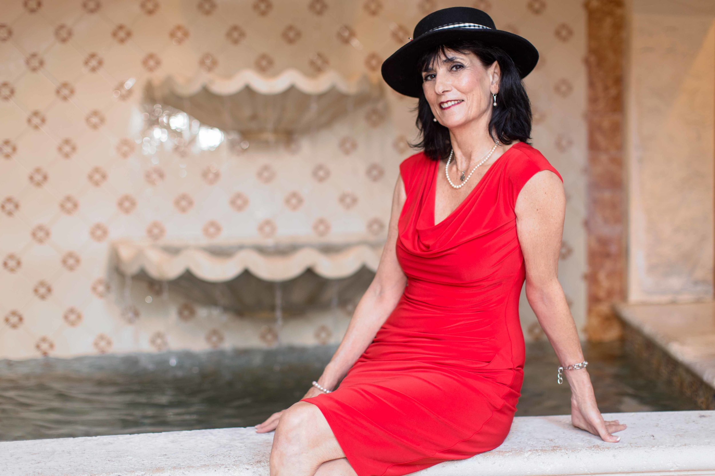 personal-branding-photography-realtor-red-dress-black-hat-deerfield-beach-south-florida
