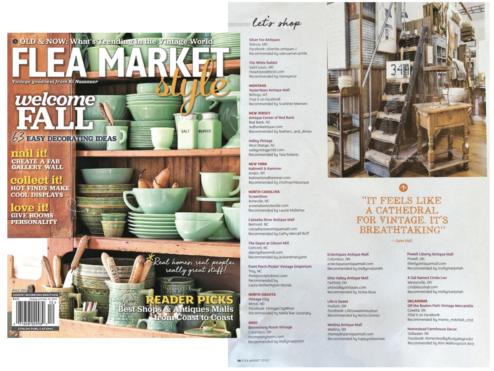 "Flea Market Style, Fall 2018 ""Let's Shop"" Feature"