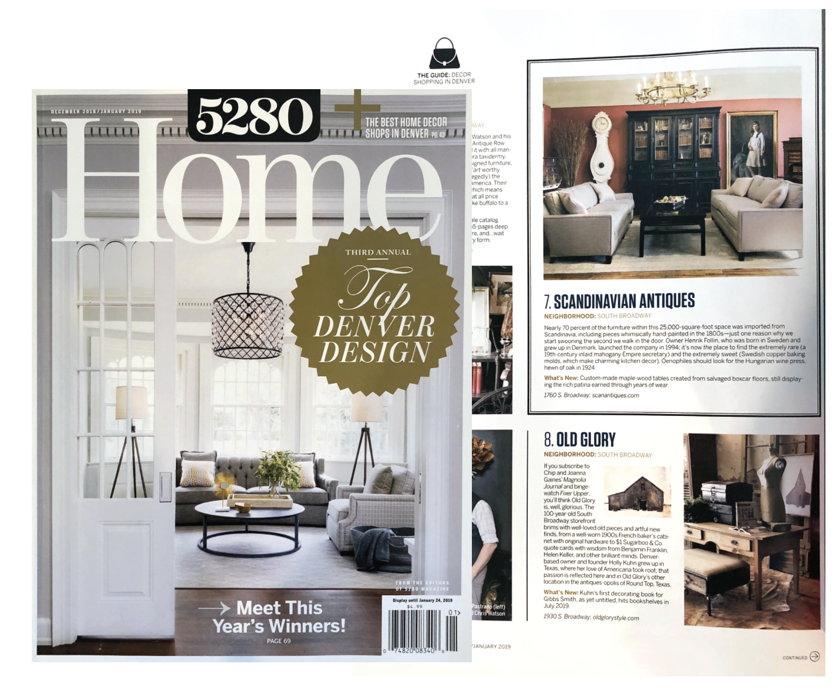5280 HOME, January 2019,  Editor's List of Favorite Locally Owned Home Decor Shops