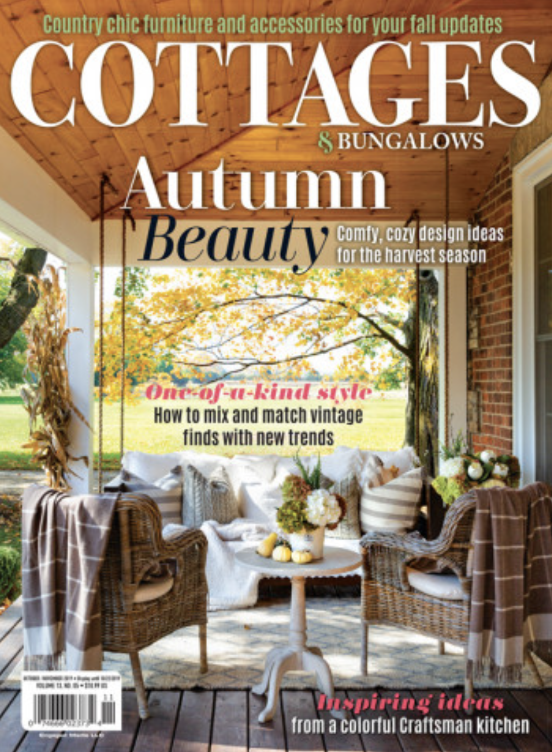COTTAGES & BUNGALOWS, October/November 2019: Read a Room feature