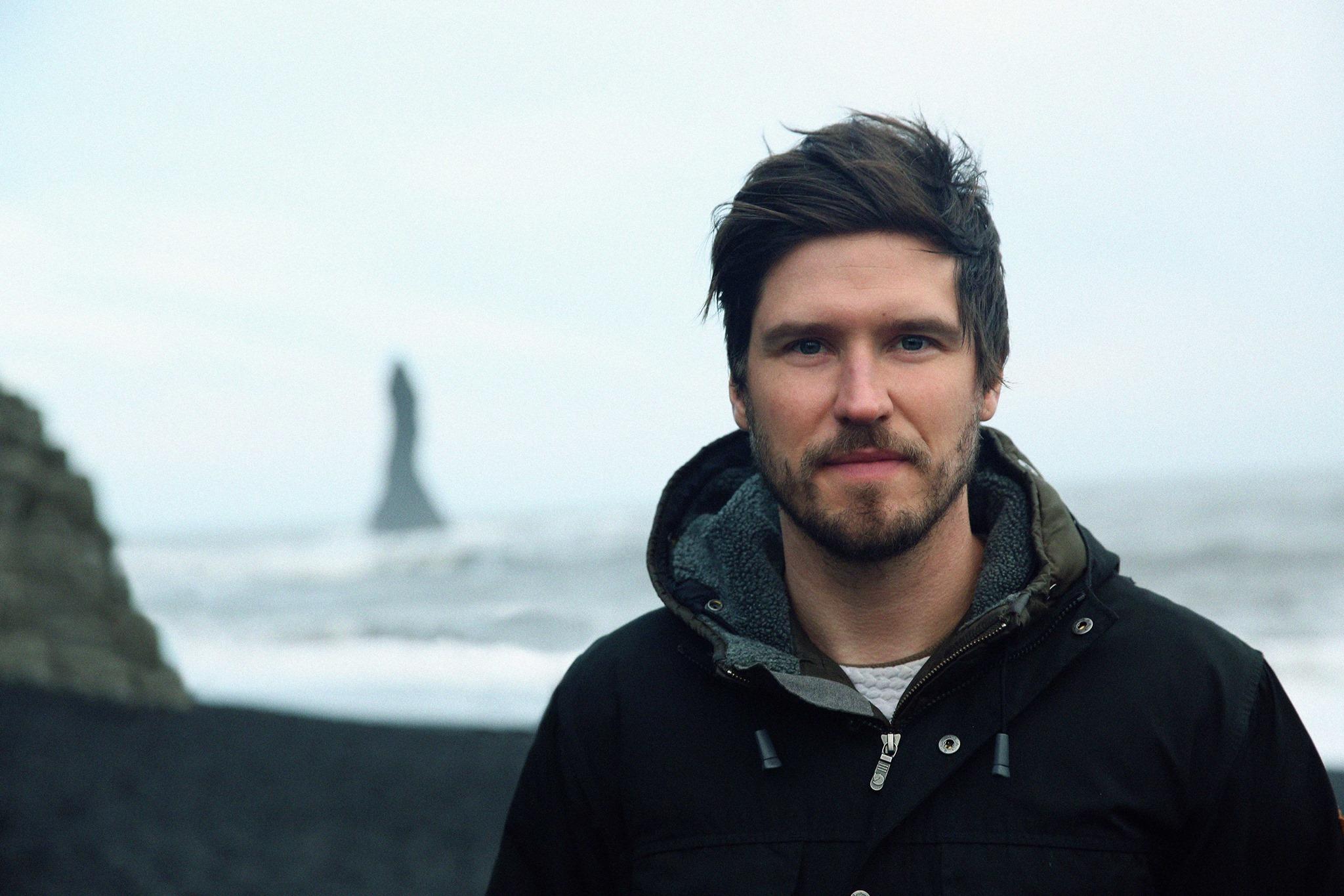 Eric Rippin in Vík í Mýrdal, Iceland
