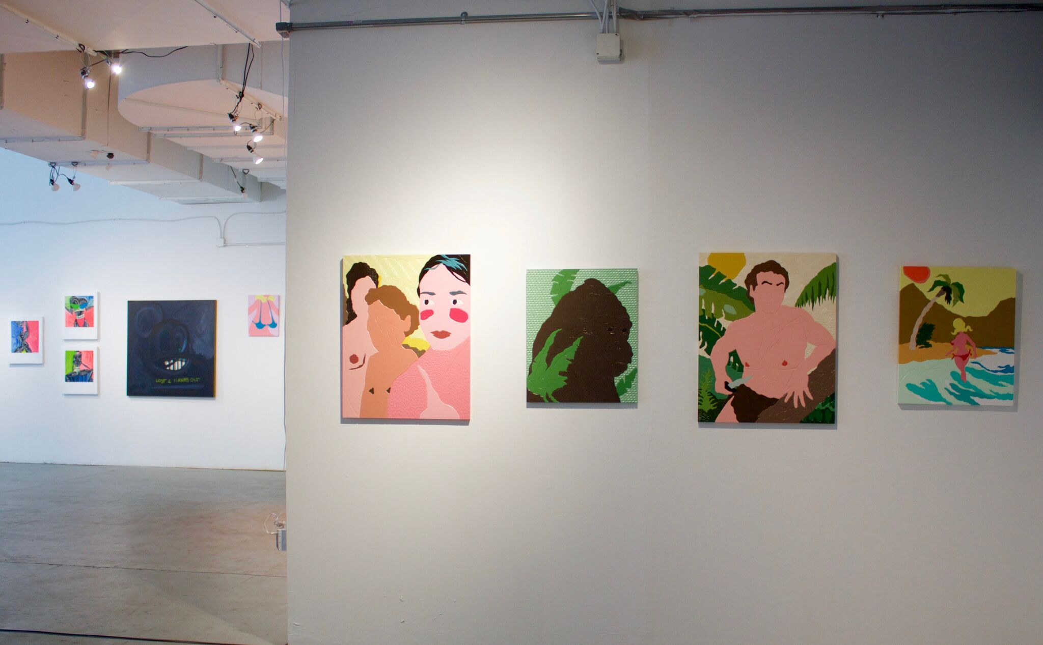 Installation view: This is Not a Safe Space  A+E Studios, NY 2016