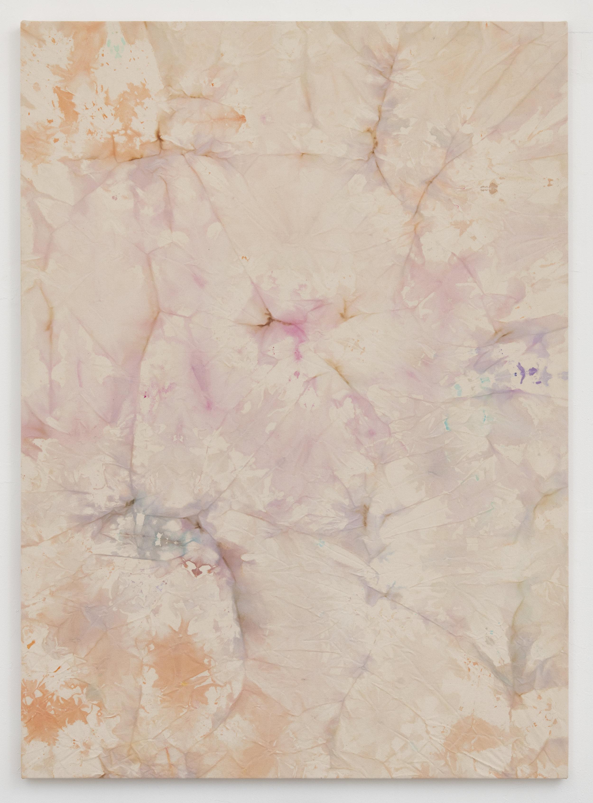 ANNIE SHINN  Terra , 2019 Dye and watercolor on canvas 72 x 52 inches