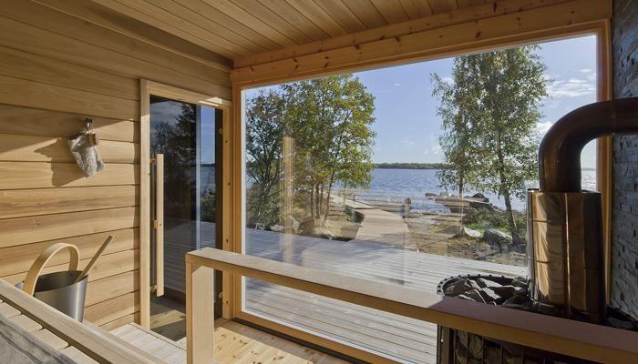Современная сауна Хонка в Финляндии
