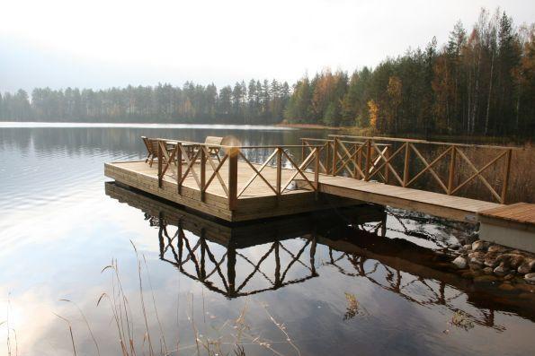 Обслуживание причалов. Дом в Финляндии