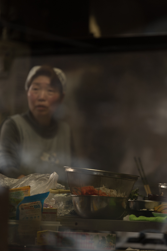 Dinner preparations - Kadoide, Japan 2015