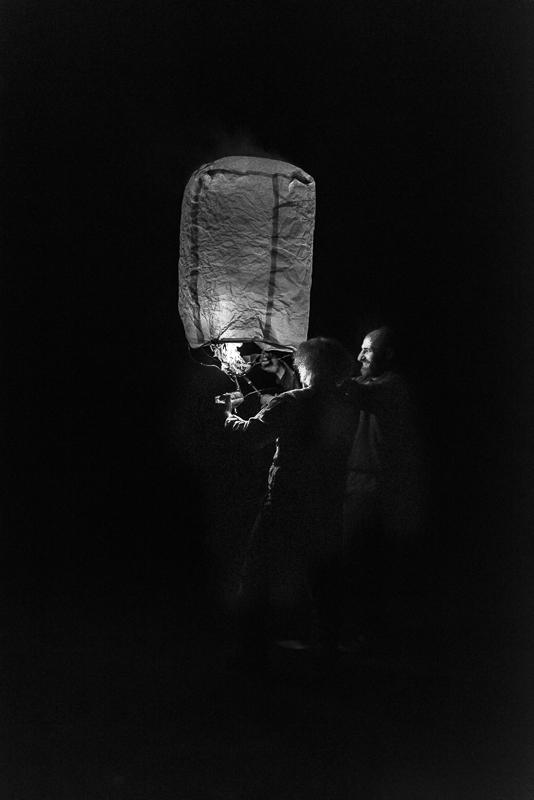Fire dance #1, lighting the lantern