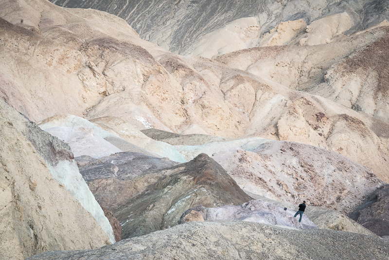The beige is full of colors. Death Valley 2015