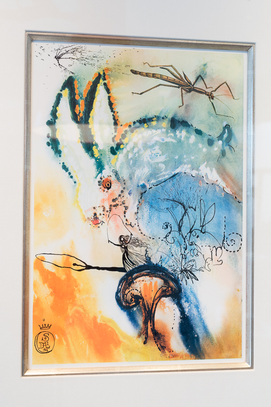 Like Alice falling through the rabbit hole - an amazing piece by Dali, one of many on display in the gallery on Rodeo Drive.