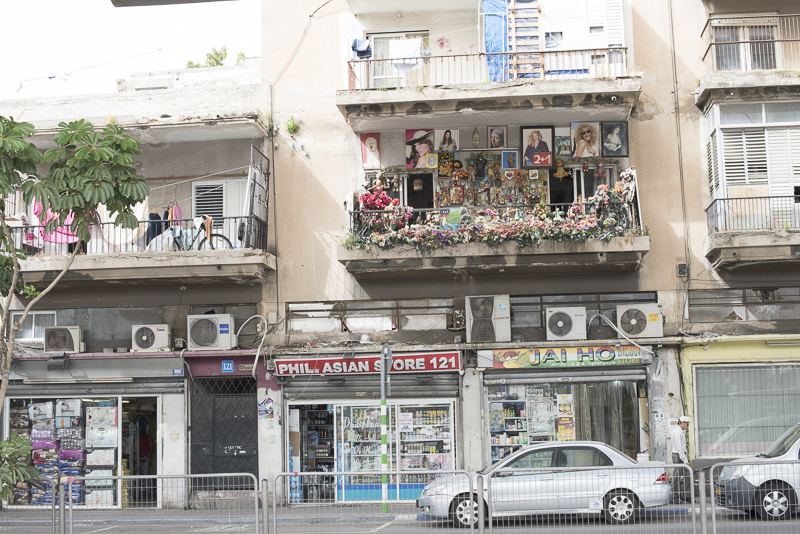 Balcony in one of the most neglected areas of Tel Aviv.