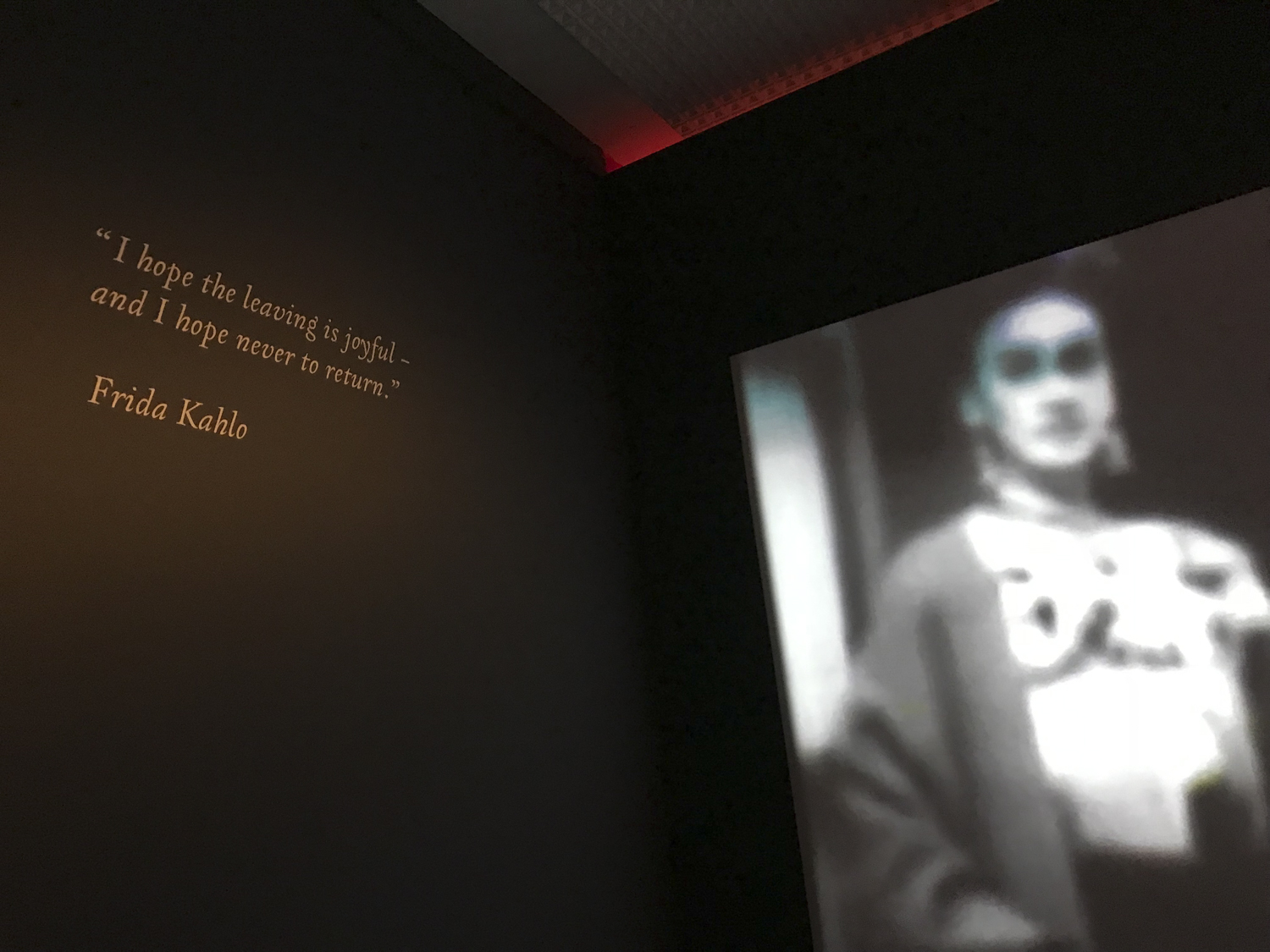 Last words & video in the exhibit