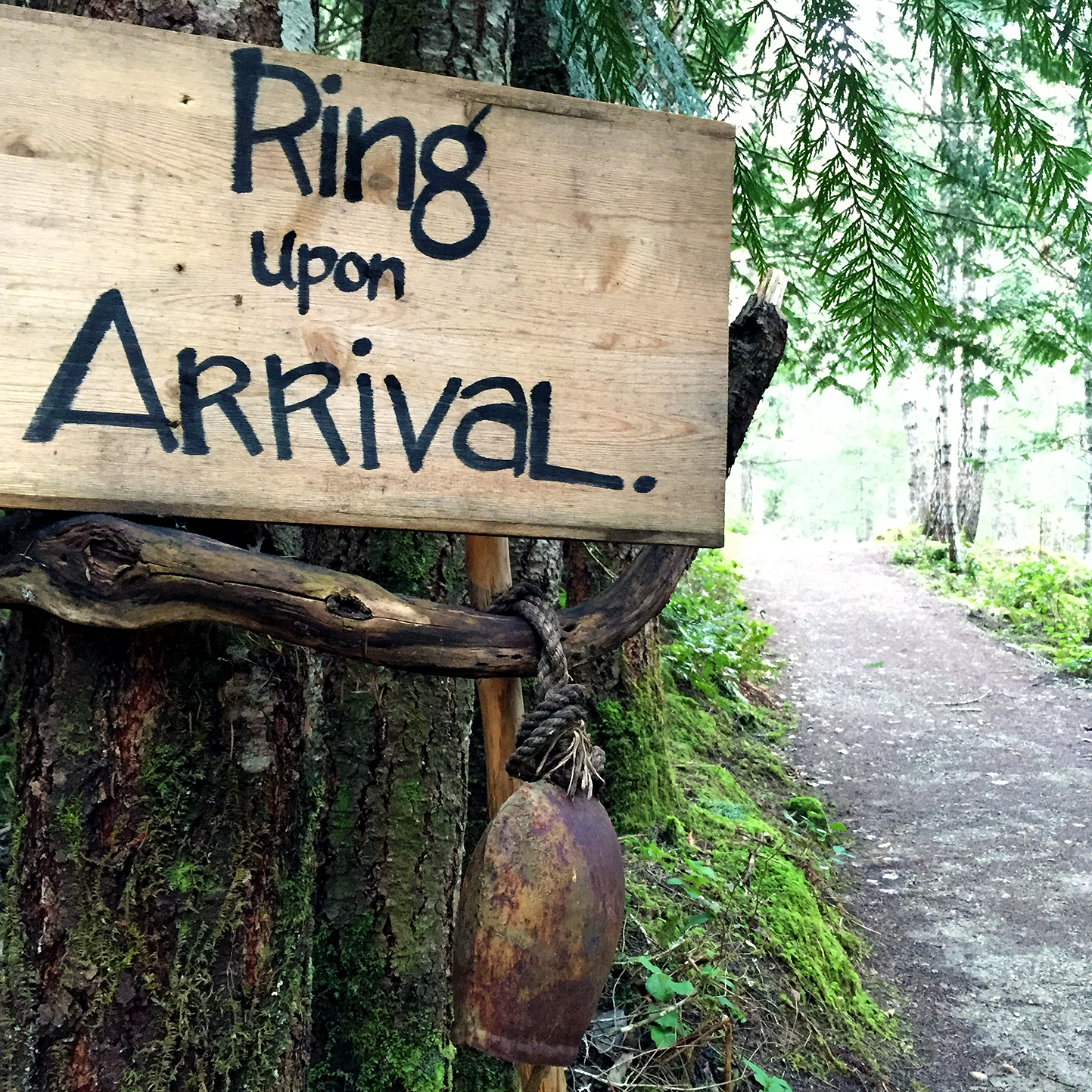So quiet in fact, that you must ring upon arrival so not to sneak up on those who may be at one with nature.