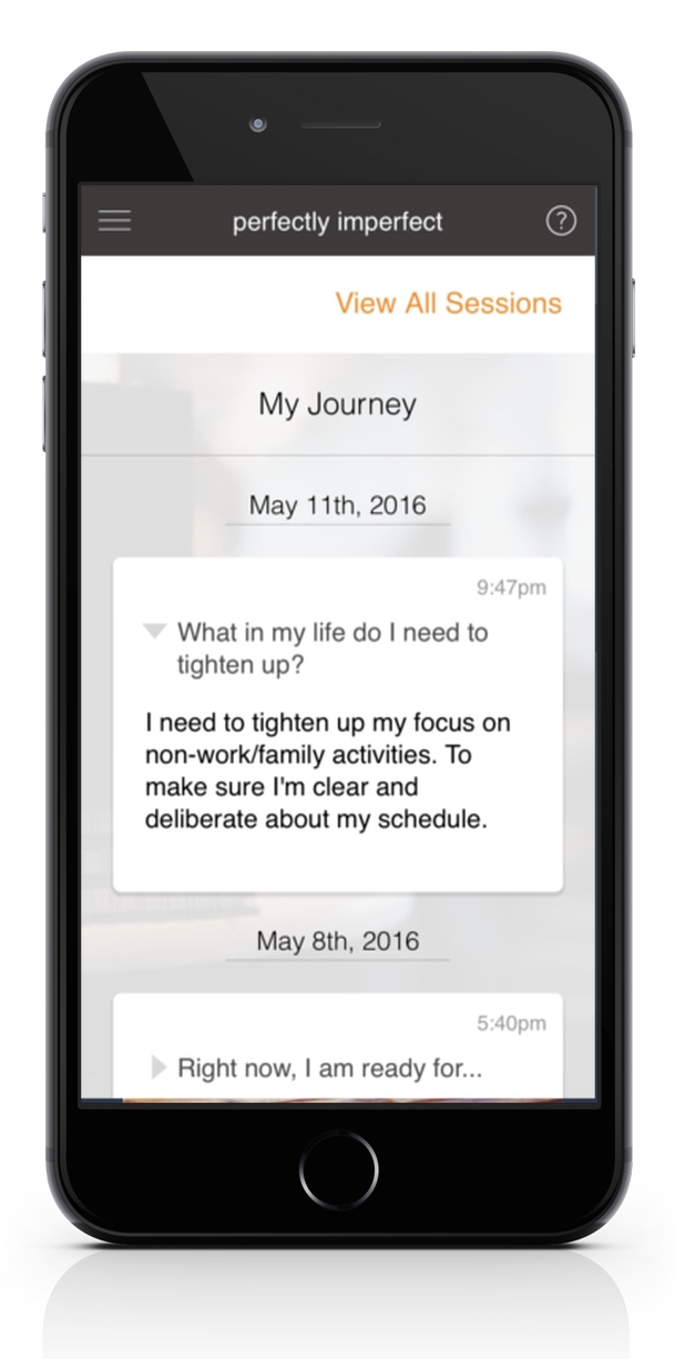 Track your progress by reviewing your journaling history.
