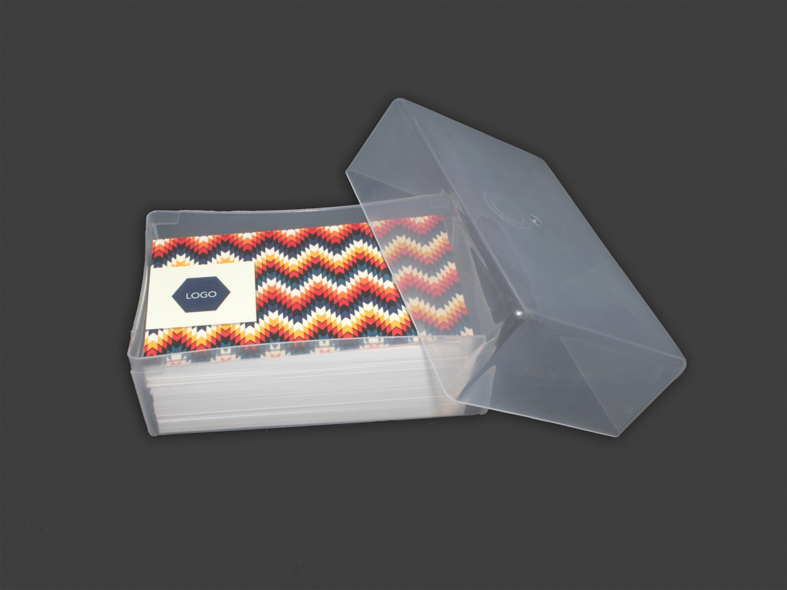 125 Card Plastic Carrying Case | TRANSPARENT