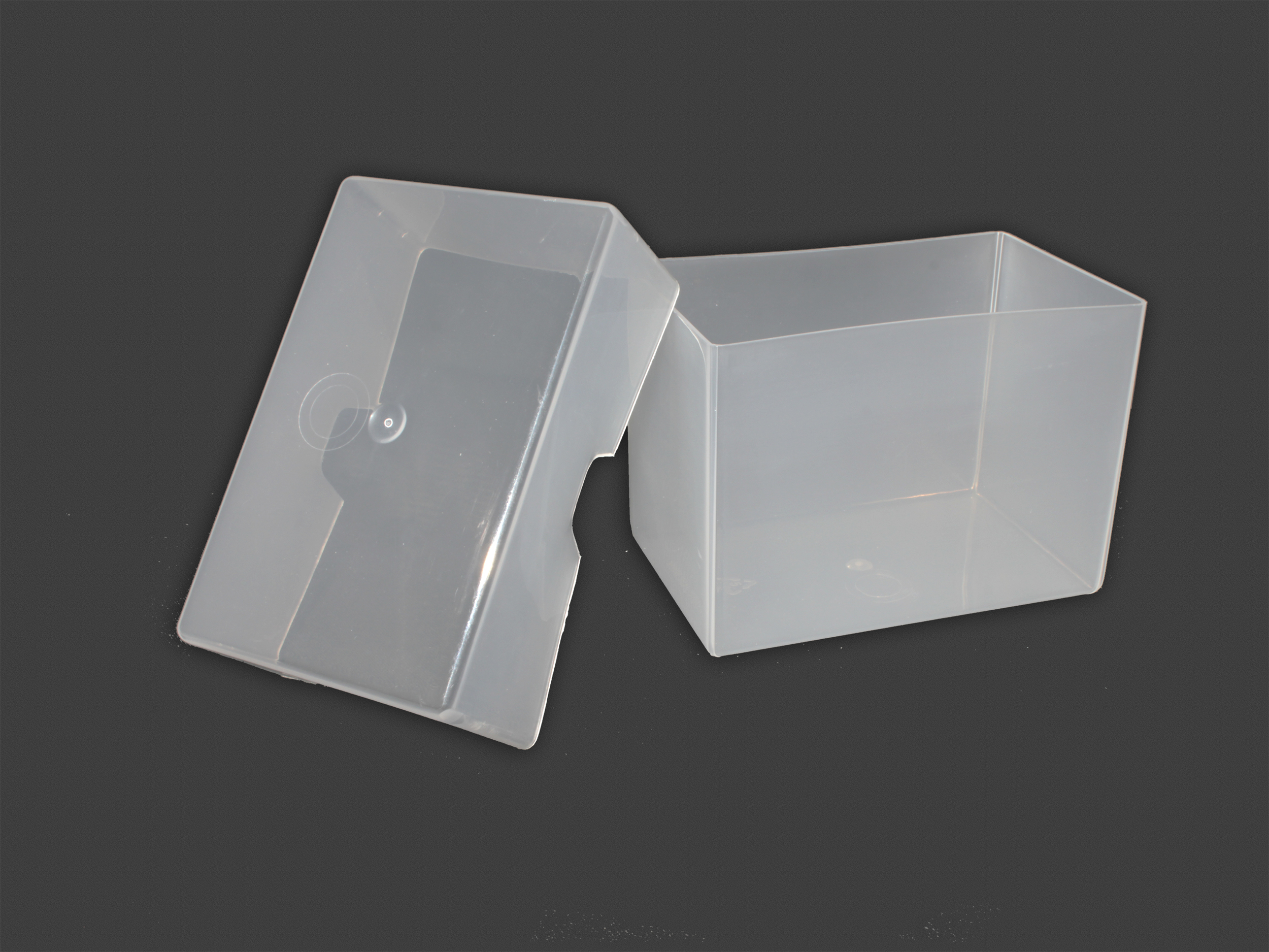 250 Card Plastic Carrying Case | TRANSPARENT (open)