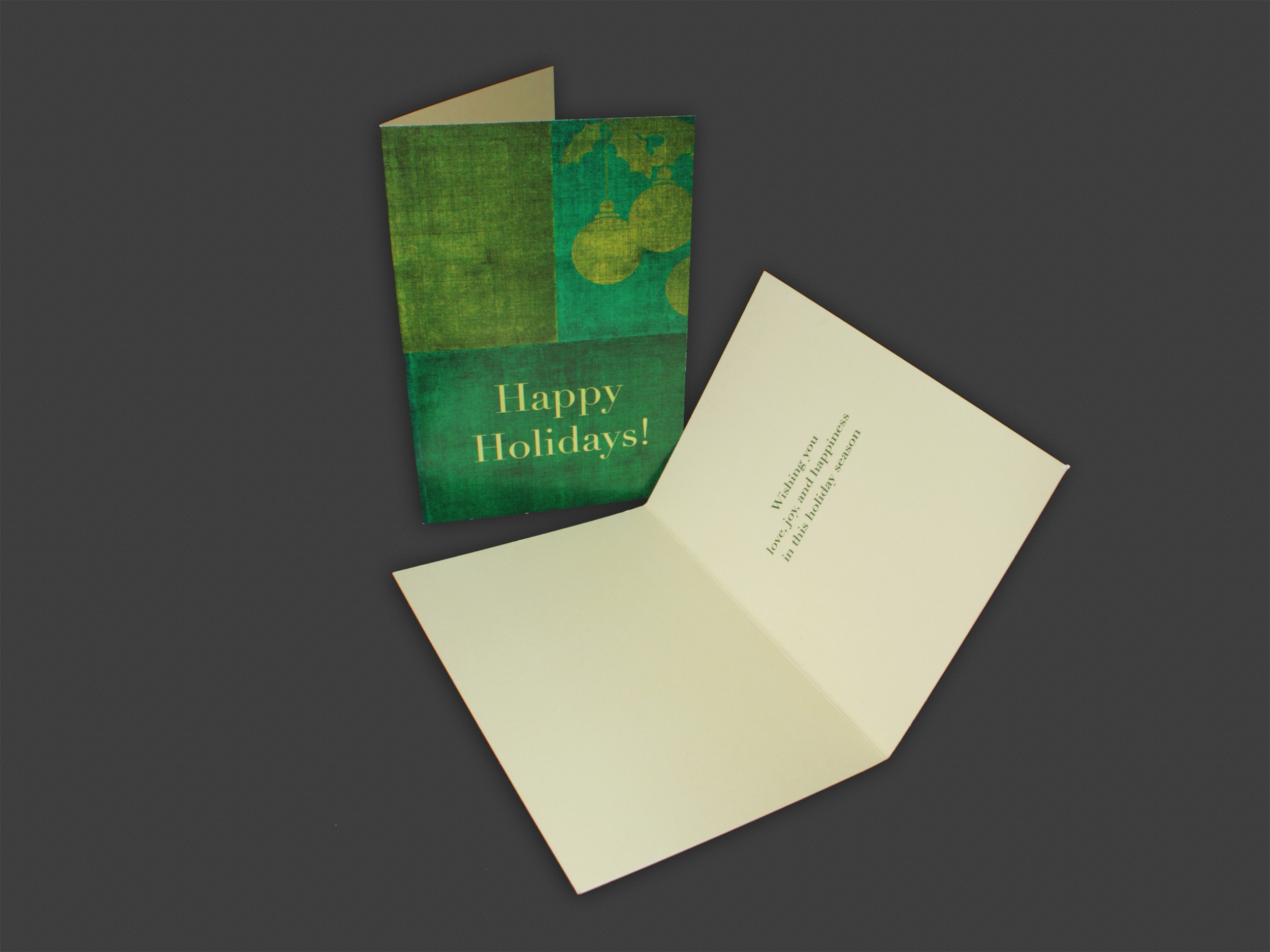 """4"""" x 6"""" Vertical Folding Christmas Card on Specialty Cardstock 