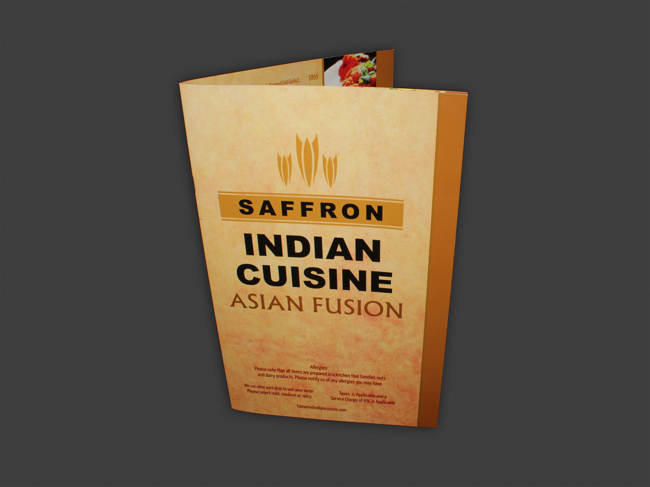Menu | Saffron Indian Cuisine (closed)