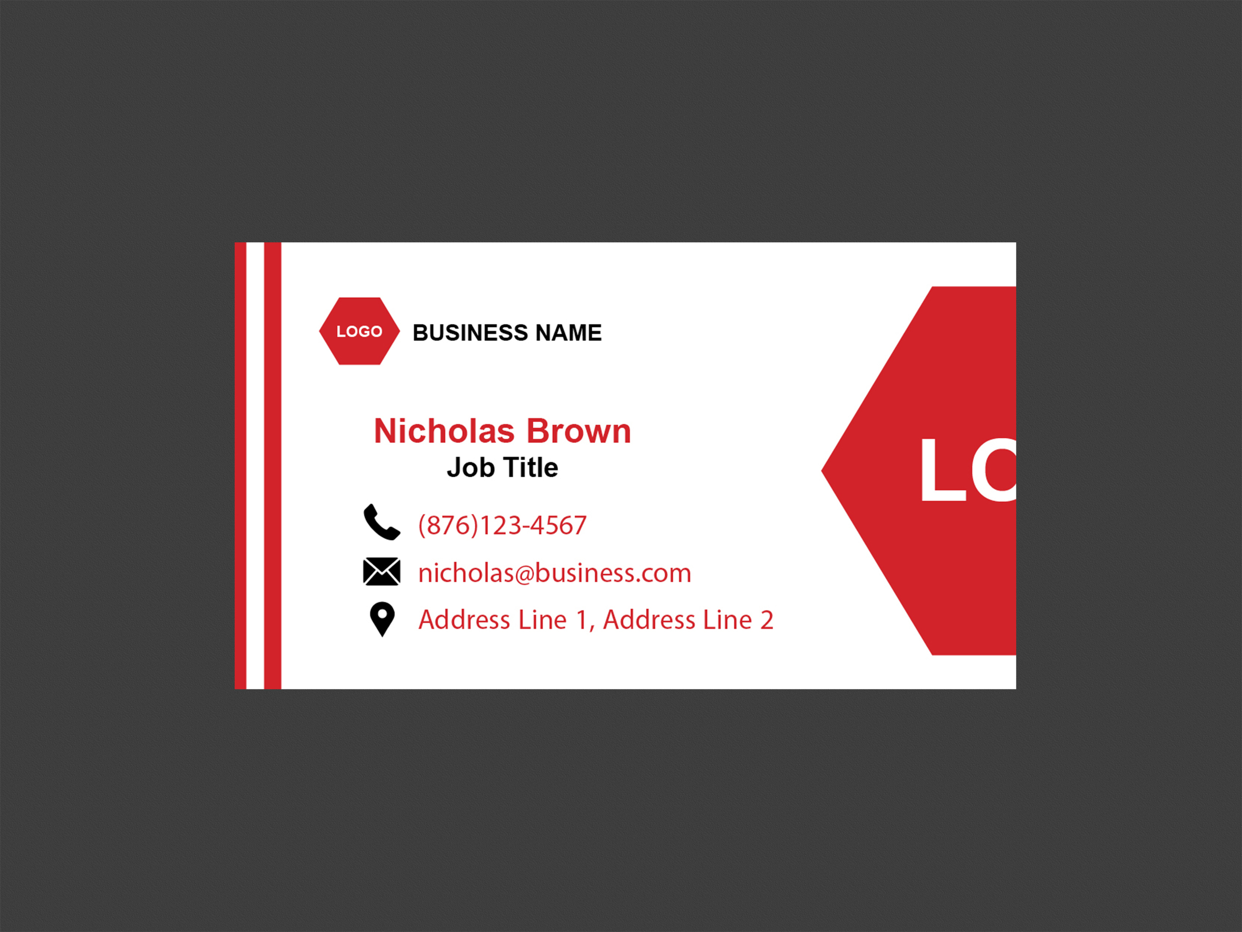 SINGLE-SIDED BUSINESS CARDS