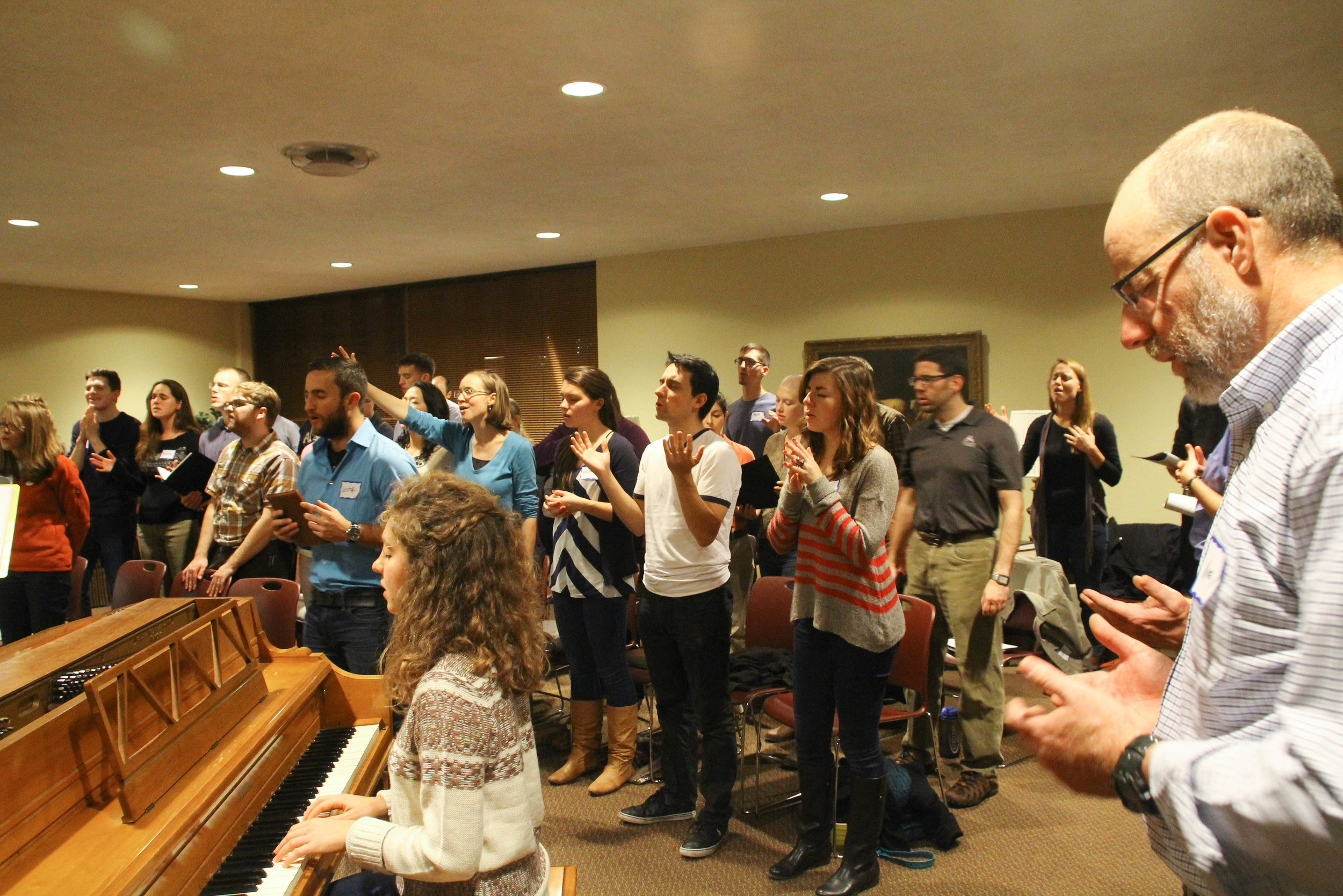Worship During the Life in the Spirit Seminar.