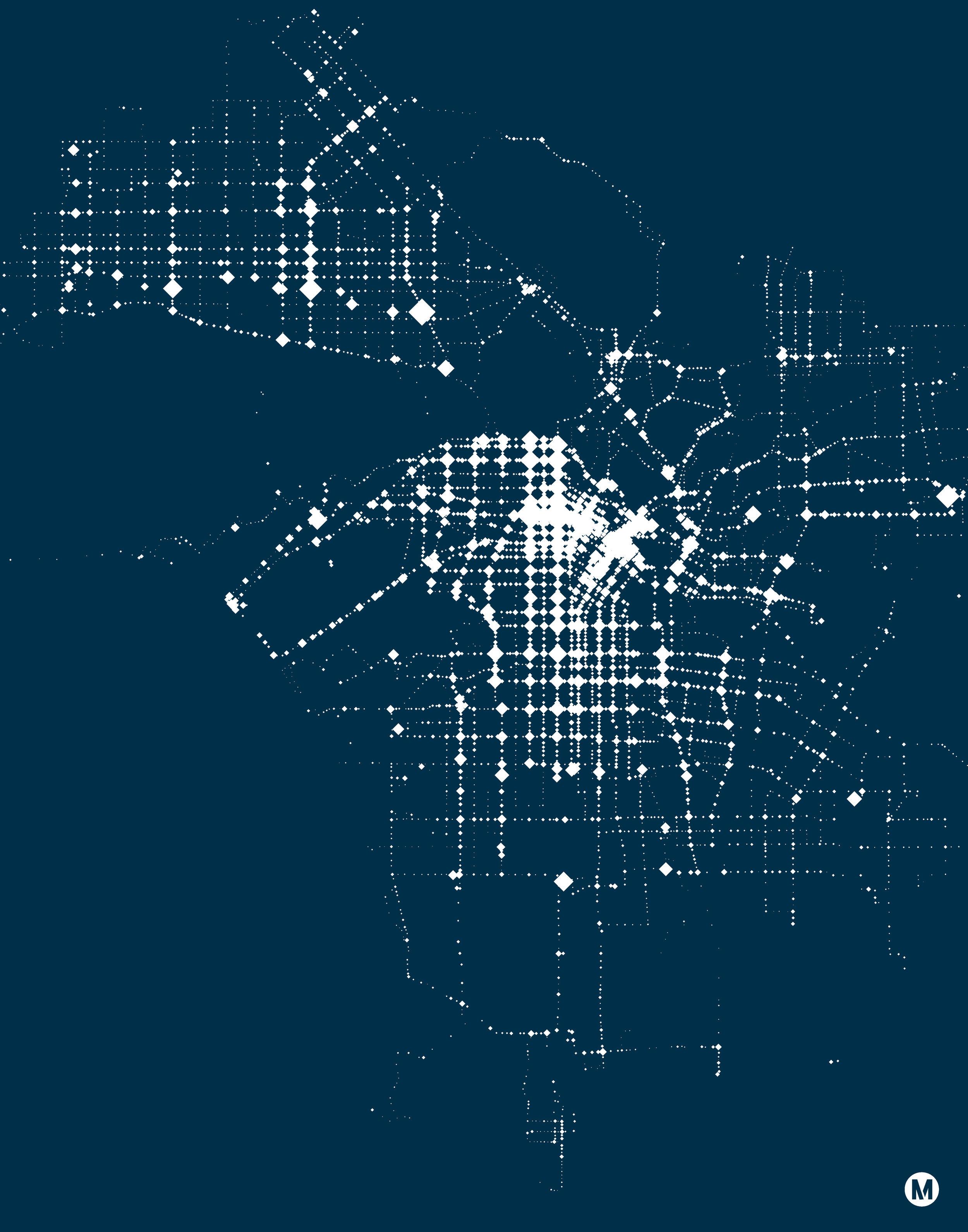 LA Metro Minimalist Map