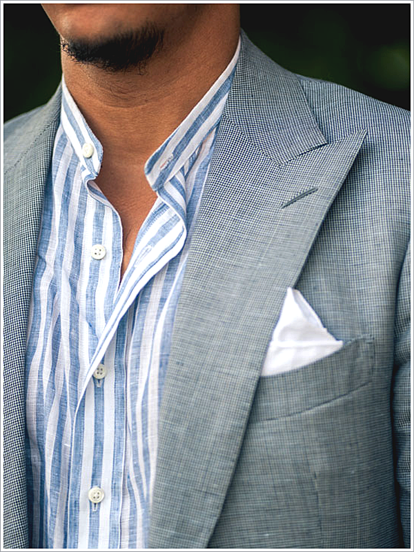 Articles of Style, Blogger // Focus: Band Collar Shirt and Linen Blazer