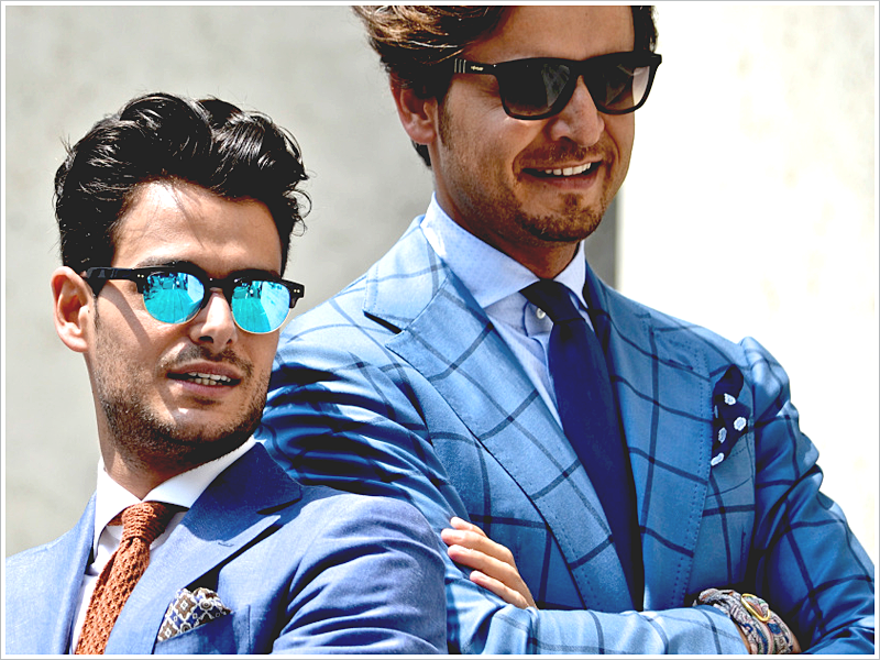 Frank Gallucci (Left) and Roberto Raro // Focus: Sunglasses that compliment their suits in shape and color