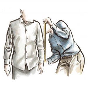 Our expert stylists have you try on various garments and take a total of 36 body measurements to ensure proper fit based on each individual's proportions and posture. -