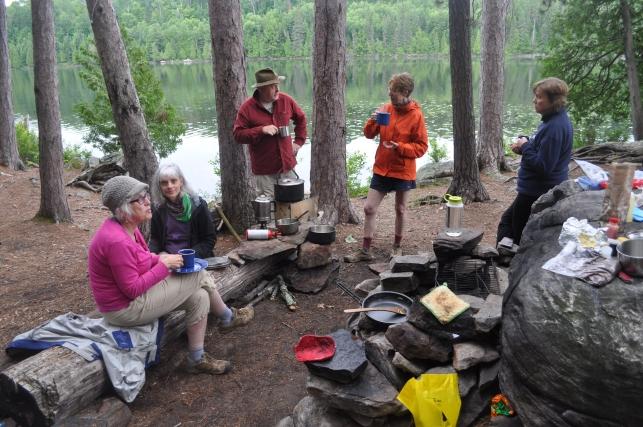Canoe-in campsite