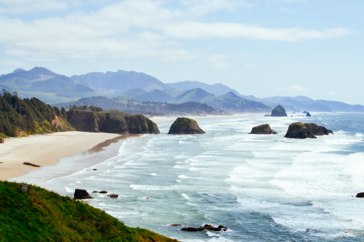 View of Cannon beach from Ecola State Park