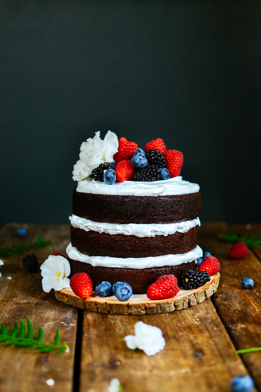 3-tier Naked Chocolate Cake