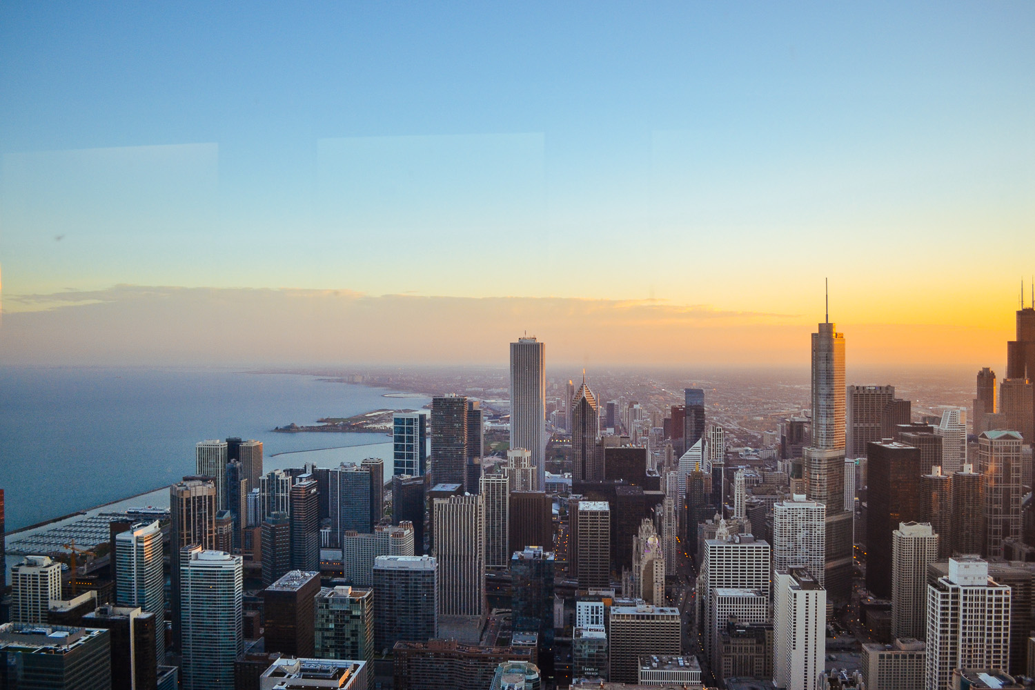 Explore Chicago - view from the John Hancock Building