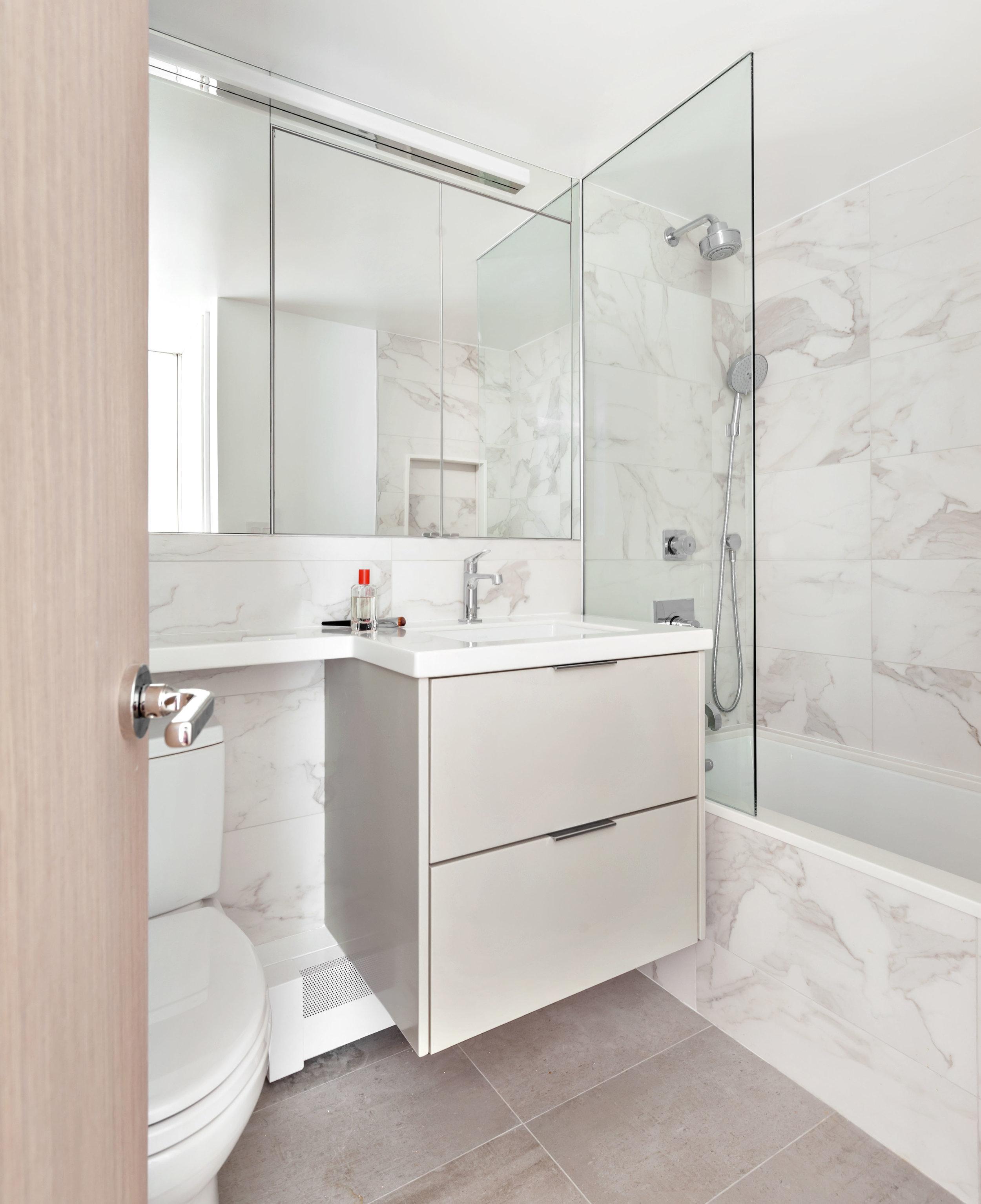 Guest Bathroom with Custom Vanity