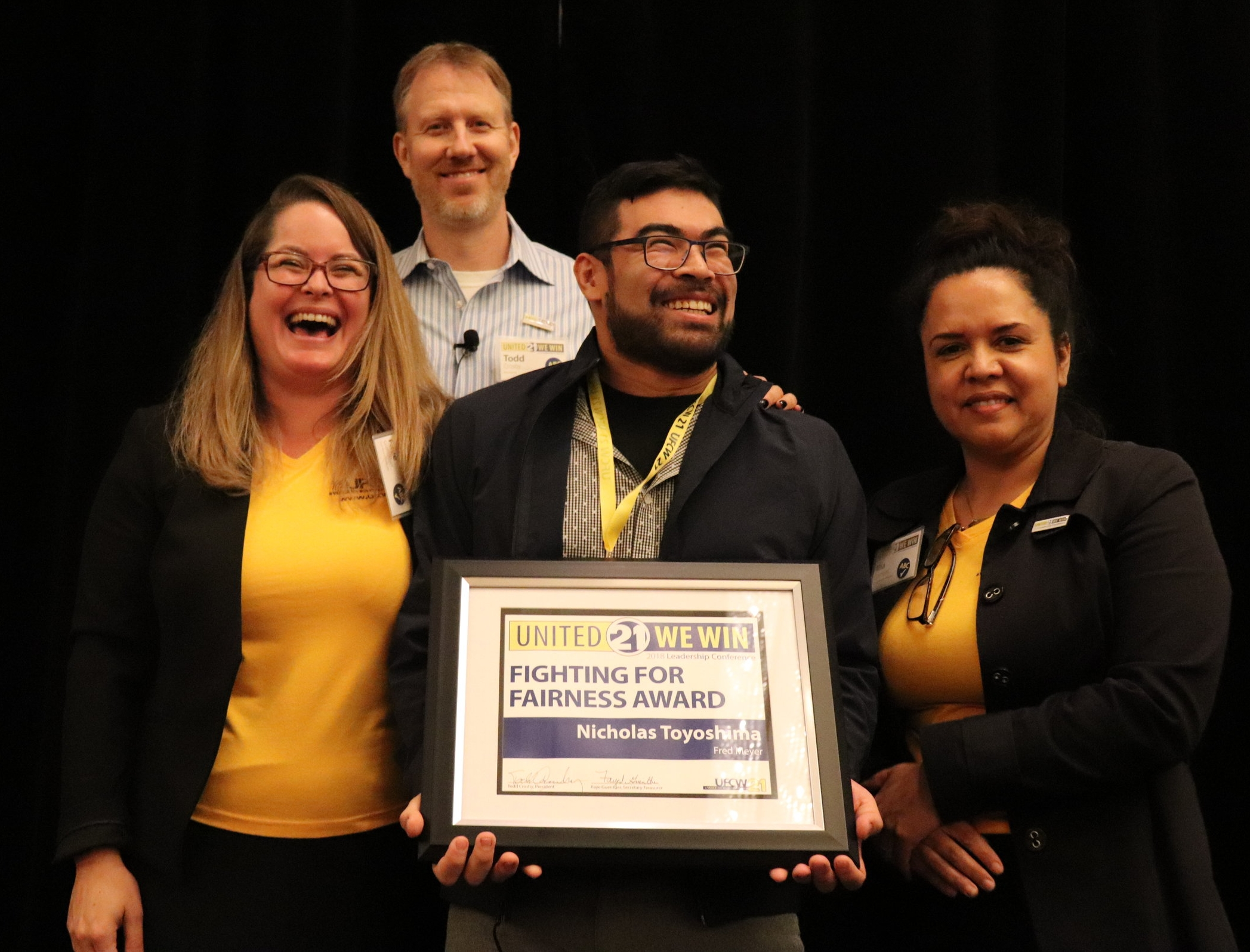 Fighting for Fairness Award winner Nicholas Toyoshima from Fred Meyer