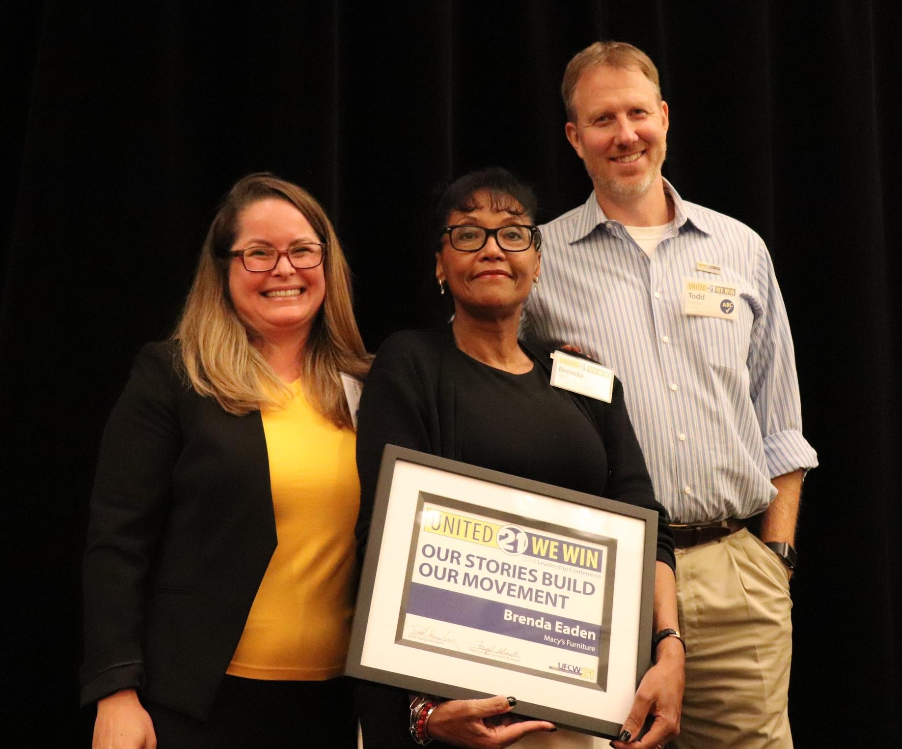 Our Stories Build Our Movement Award winner Brenda Eaden from Macy's