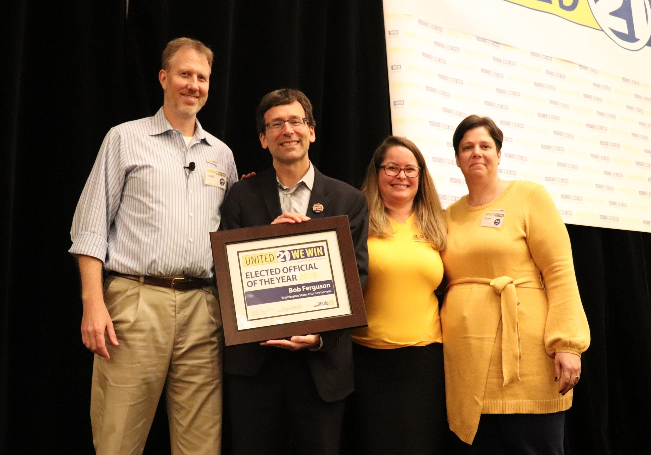 Elected Official of the Year Award winner WA State Attorney General Bob Ferguson