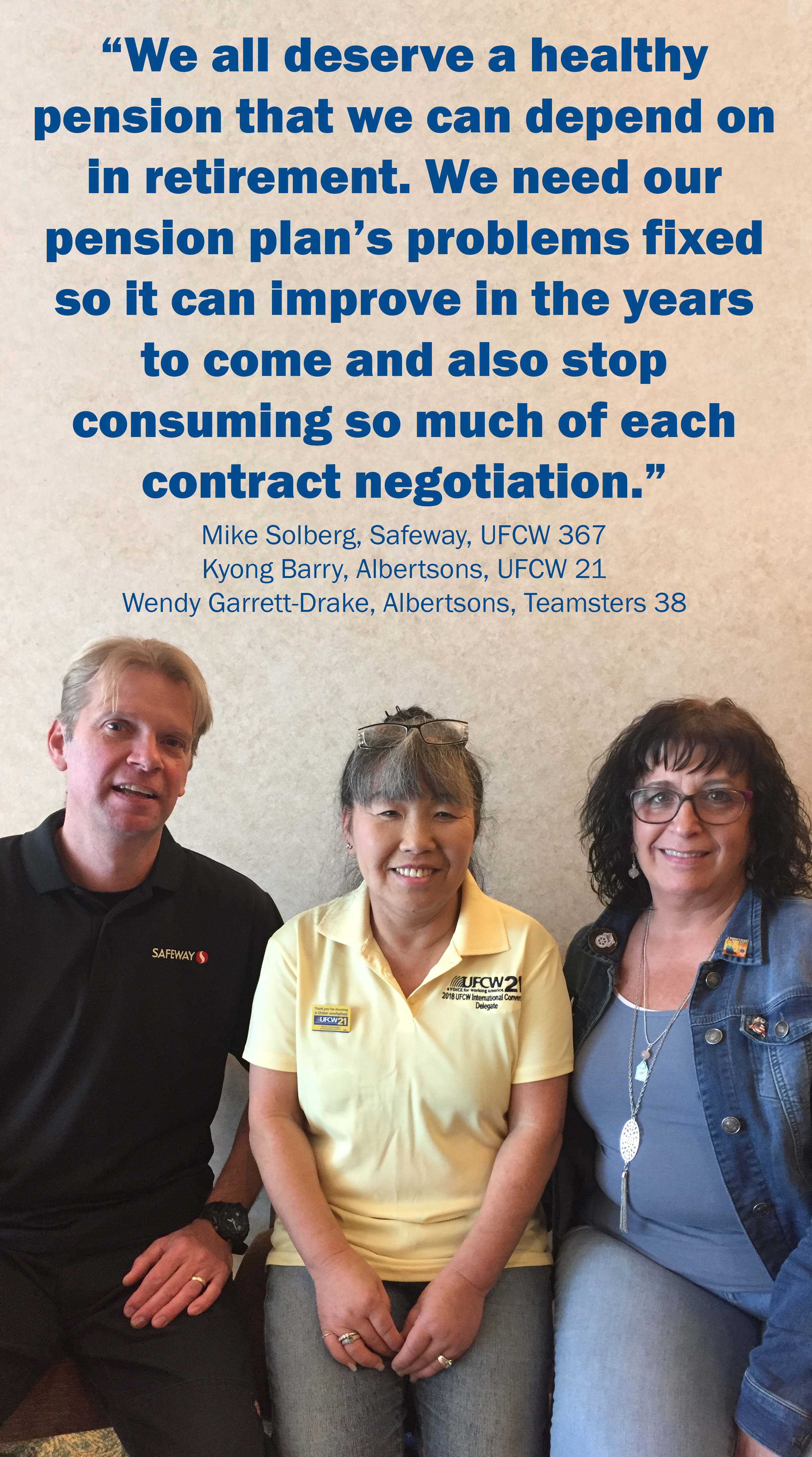 Bargaining team members Michaela and Kyong and Jeff pension quote.jpg