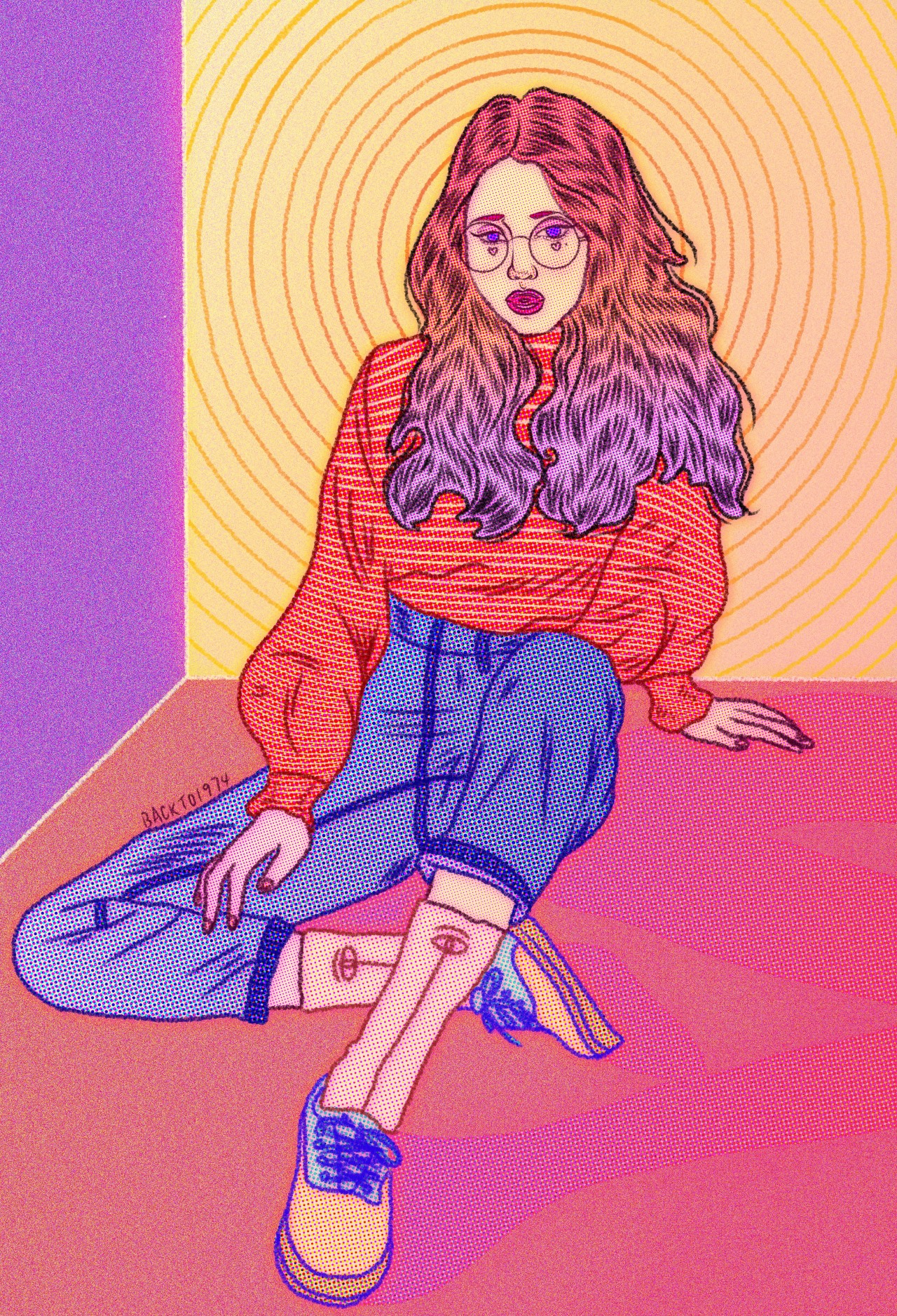 eatsleepdraw :    ll P a r k S o r a ll   Always want to draw that cute girl from 3CE. I'm also tryin' to create that neon lights atmosphere, that warm tone is mesmerizing to me.🌅    Primary Blog  l  Secondary Blog  l  Instagram