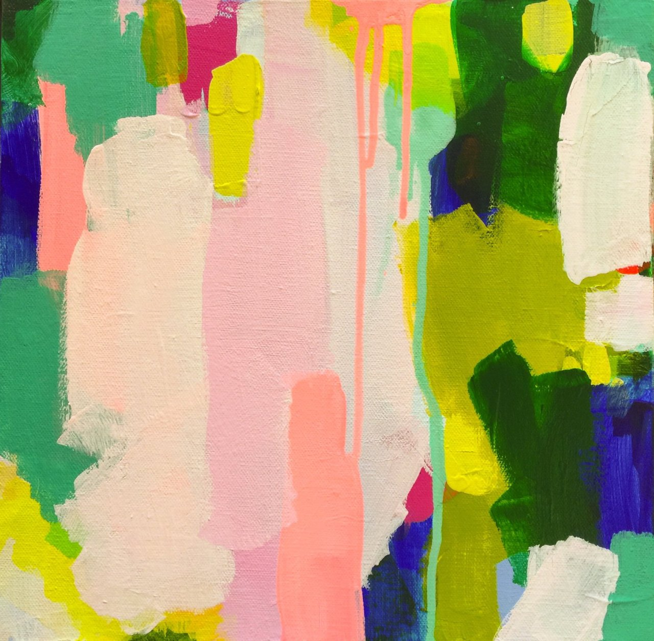 sfmoma :      Submission Friday :  to be reckoned with - acrylic on canvas   artist: natalie baca