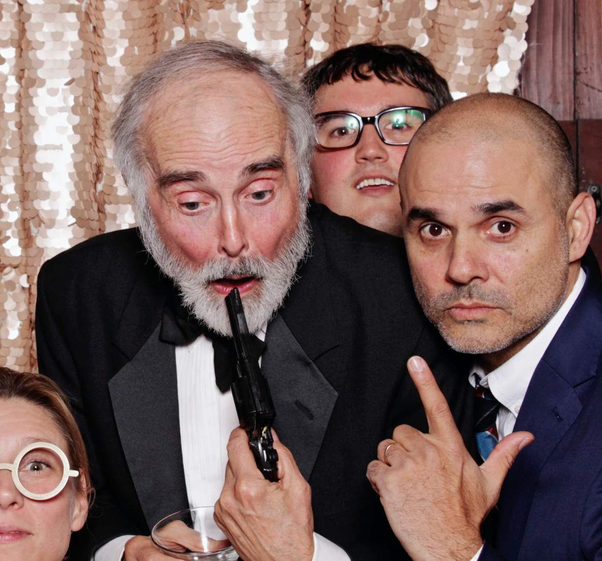 this is Gerry Graf taking a photo with a Sean Connery impersonator at the Barton F Graf holiday party in 2016. I never want to lose this incredible photo so i'm blogging it.