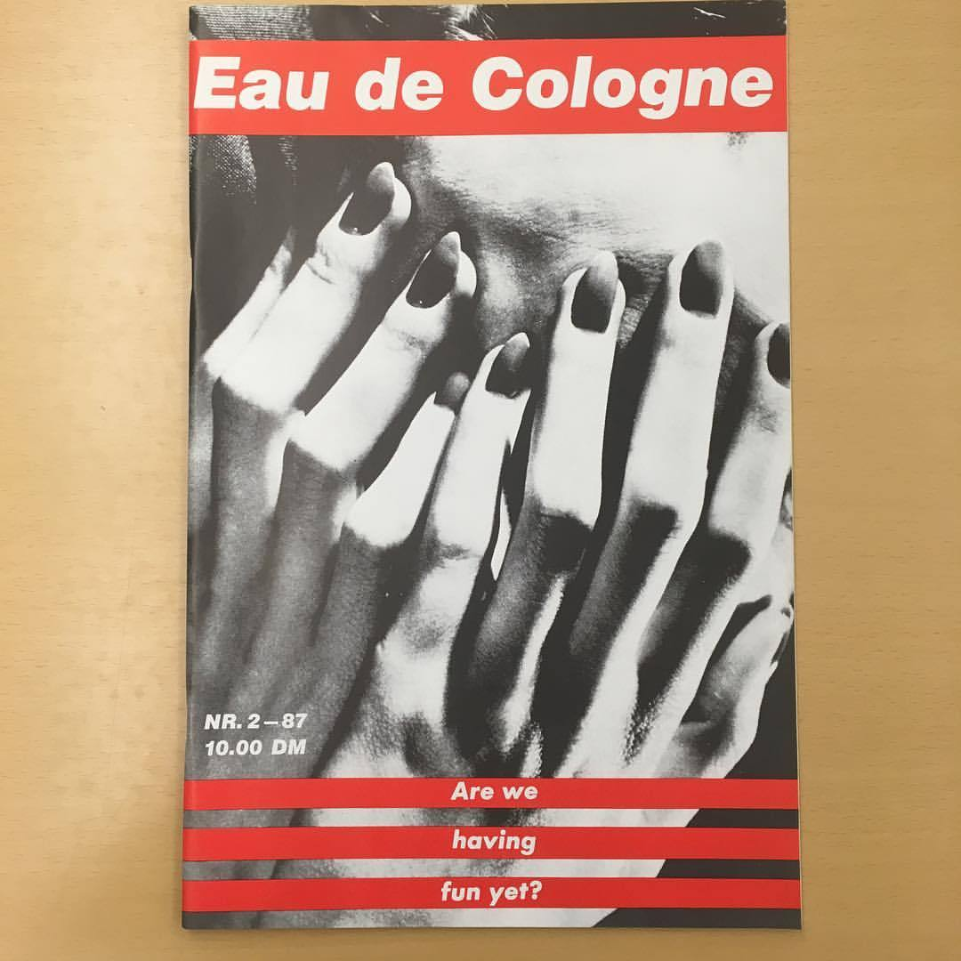 momalibrary :   Issue 2 of Eau de Cologne with Barbara Kruger cover