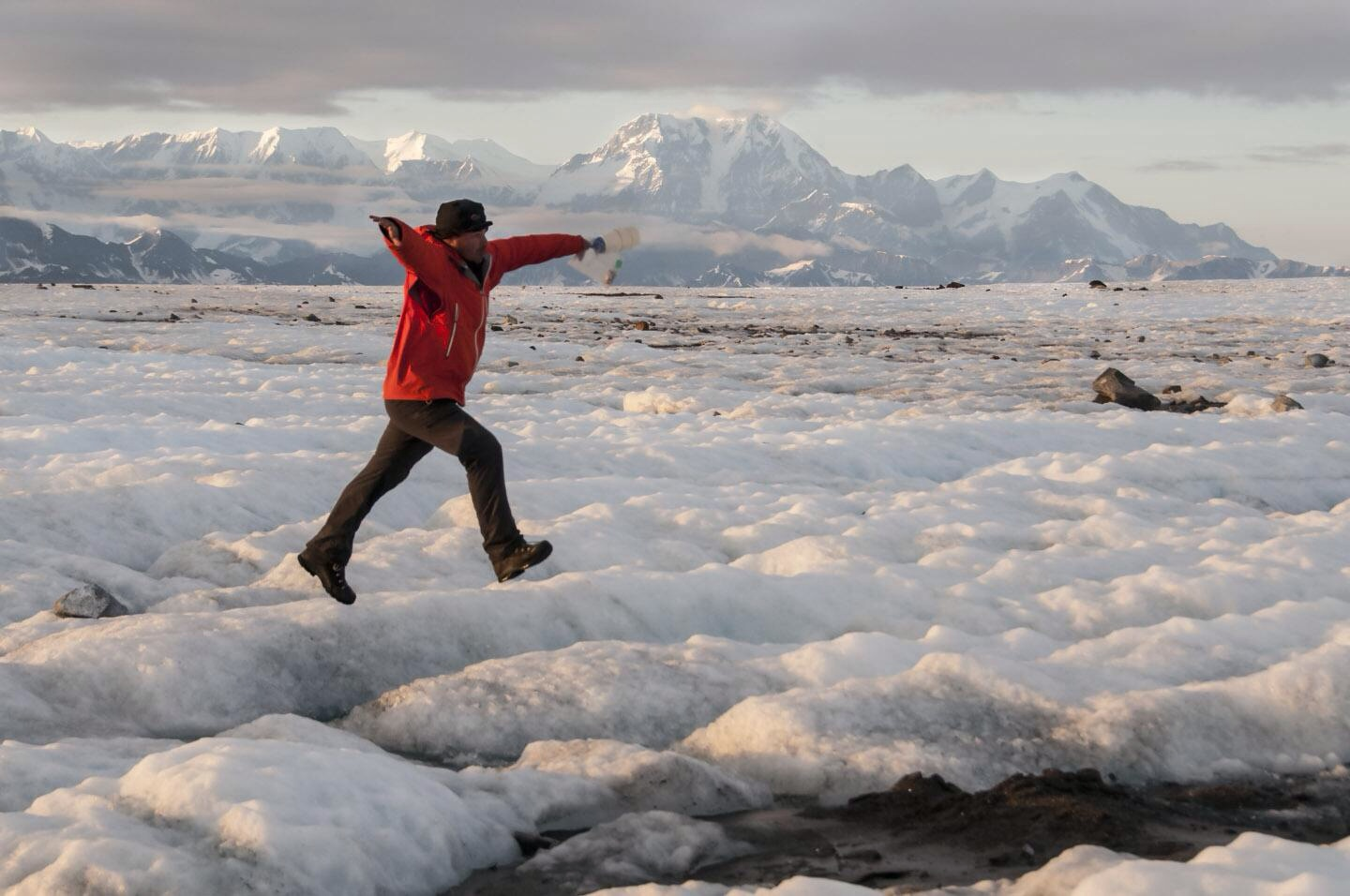 Carl Donohue of  Expeditions Alaska  on Malaspina Glacier, AK