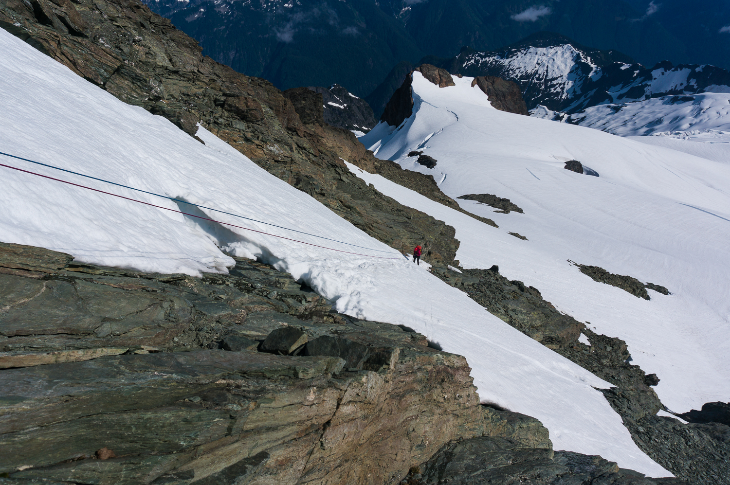 Mount Shuksan, WA, Summit Pyramid, Self-belay