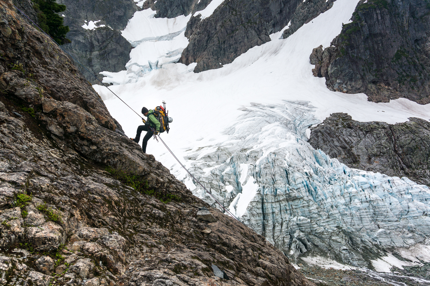 Mt Shuksan, WA Self-belay