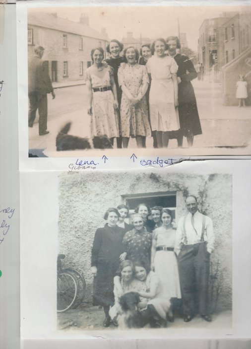 Members of the Gibney Family, residents of the Gambles buildings, Chapelizod.