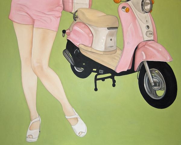 Pretty On Pink - Acrylic on gallery box canvas - 80cm x 100cm €895