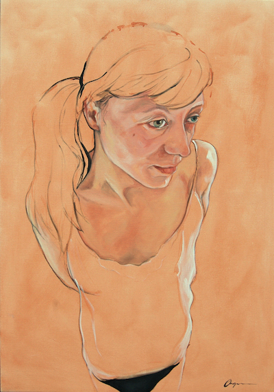 Naked Gretta I - 70cm x 100cm Oil on Canvas